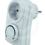 Diese Steckdose mit Dimmer regelt die Pumpe für die Wasserzirkulation des Naturteichs im Winterbetrieb